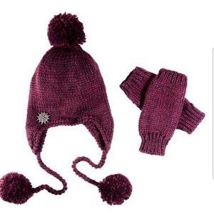 C+I Berry Knit Hat & Glove Set